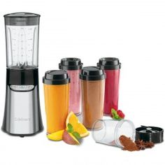 Cuisinart 350 Watt 15 Piece Black/Stainless Steel Personal Blender Set, with Plastic Cups Best Blenders, Online Coupons, Plastic Cups, Home Hardware, Bar, Black Stainless Steel, Thing 1 Thing 2, Food Preparation, Kitchenware
