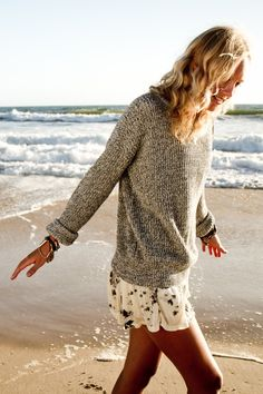 love the sweater with frilly skirt