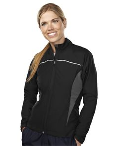 Women's Micro Dobby Long Sleeve Jacket (100% Polyester) 1060 Lady Sprint #Trimountain #share #greatdeals