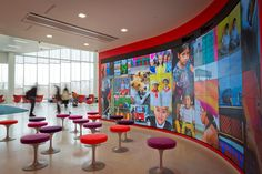 The James B. Hunt Jr. Library . Displaying Student Work in the iPearl Immersion Theater