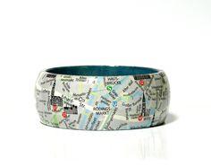 Armreife - Armreifen HAMBURG City map  - ein Designerstück von PappLePapp bei DaWanda