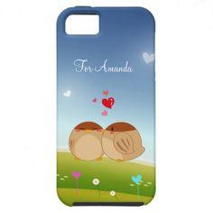 Cute Bird Couple Full of Love Heart iPhone 5 Cases