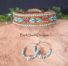 "Turquoise Beaded Bracelet-Wrap Bracelet-Leather Cuff Bracelet-Southwest Bracelet-Custom Sizes-""Desert Streams""-Turquoise n' Coral (DS-PTR) Collar Steampunk, Steampunk Necklace, Leather Cuffs, Leather Jewelry, Leather Bracelets, Cuff Bracelets, Pandora Bracelets, Leather Cord, Beaded Wrap Bracelets"