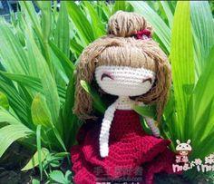 Красивая девушка вязания крючком Hong Jin графический девушка - глобальной станции Taobao