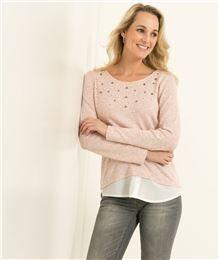 GDM - T-shirt femme perles