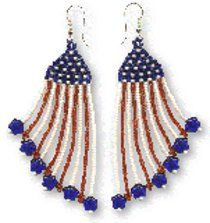 With the BBQs and fireworks going you will need something to help you stand out this Fourth of July. Follow these simple brick stitch beading instructions and make these fun Happy 4th Earrings! Jewelry is the best way to show off your patriotic pride.