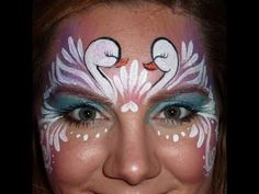 Swan Princess Face Painting Tutorial
