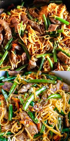 30 Minute Gluten-Free Beef Lo Mein 30 Minute Gluten-Free Beef Lo Mein Recipe – this dinner meal is bursting with delicious flavor. Made of Flank steak, crunchy green beans, grated carrot and amazing sauce to complete this Chinese dish. Gluten Free Recipes For Dinner, Gf Recipes, Easy Dinner Recipes, Healthy Dinner Recipes, Asian Recipes, Easy Meals, Easy Recipes, Gluten Free Lo Mein Recipe, Healthy Lo Mein Recipe