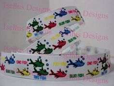 1 Fish 2 Fish Ribbon by IsellusDesigns on Etsy