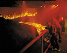 Feel the ground shake beneath your feet when our volcano erupts in our Restless Earth gallery. #visitorattraction #Edinburgh #DynamicEarth