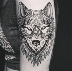 Tribal tattoos Cool and Best Tribal Wolf Tattoos for Women Here we have nice photo about wolf tattoo designs for women's arms. Wolf Tattoo Design, Mandala Tattoo Design, Wolf Tattoos For Women, Tattoos For Guys, Wolf Tattoo Sleeve, Sleeve Tattoos, Tattoo Wolf, Tribal Lobo, Tribal Tattoos