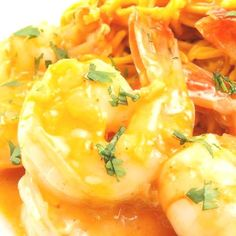 Coconut Curry Shrimp with Spicy Peanut Noodles - Evil ShenanigansYou can find Curry shrimp and more on our website.Coconut Curry Shrimp with Spicy Peanut Noodles - Evi. Spicy Peanut Noodles, Coconut Curry Shrimp, Thai Recipes, Peanut Curry, Meat, Fruit, Food, Website, Essen