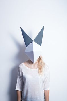 Origami Mask - stock photo