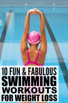 If you can't find the time energy or interest to get to the gym but enjoy spending time in the pool this collection of 10 swimming workouts to lose weight will help you not only burn calories but also tone your abs and core so you can get that bikini Fitness Workouts, Fitness Motivation, Weight Loss Motivation, Fitness Tips, Weight Workouts, Fitness Weightloss, Health Fitness, Losing Weight Tips, Best Weight Loss