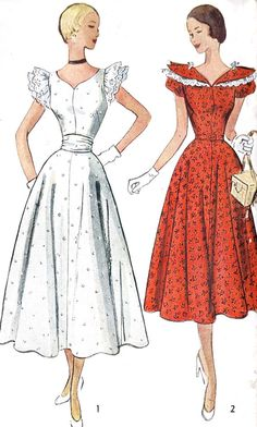 1950s Misses Dress in Afternoon and Ballerina by MissBettysAttic, $16.00
