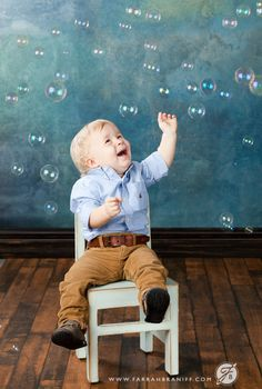 Bubbles! Great way to keep kids happy and occupied during a photo shoot!