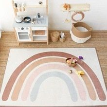 Buy 145*105cm Baby Rainbow Play Mat Child Playmat Non-slip Floor Climbing Carpet Rainbow Bohemian Cute Mat Nursery Decorative Carpet at www.babyliscious.com! Free shipping to 185 countries. 21 days money back guarantee. Playroom Rug, Baby Playroom, Montessori Playroom, Playroom Ideas, Soft Flooring, Baby Bedroom, Bedroom Rugs, Baby Nursery Rugs, Bedroom Carpet