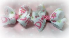 Pair Diva Hair Bows Toddlers Girls by jmkraige on Etsy
