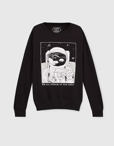 Sweatshirt estampada - Sweatshirts - Vestuário - Homem - PULL&BEAR Portugal
