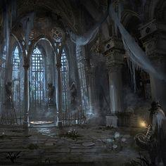 Fantasy Places, Fantasy World, Dark Fantasy, Bloodborne Concept Art, Bloodborne Art, Fantasy Art Landscapes, Fantasy Landscape, Dark Gothic, Gothic Art