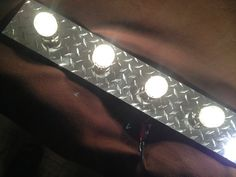Diamond Plate Vanity Light Fixture 4 Bulb by Bevnapblueprints, $128.99