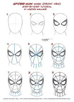 Como dibujar Bien a spider-man