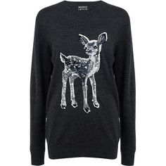 Markus Lupfer - FAWN SEQUIN NATALIE SWEATER ($228) ❤ liked on Polyvore featuring tops, sweaters, markus lupfer, markus lupfer top, sequin top, markus lupfer sweater and sequin sweaters