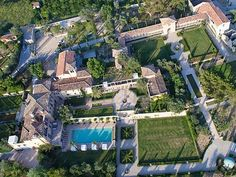 French Riviera chateau view