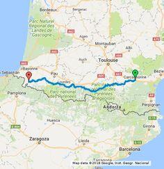 Carcassonne, Saint Jean, Pamplona, Toulouse, Bordeaux, Map, Zaragoza, Pathways, Bordeaux Wine
