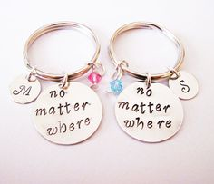 2 best friends keychains no matter where key by RobertaValle