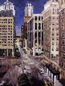 """OKC: """"Park Ave. & Broadway"""" by Roger Disney, via Etsy."""