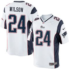 7a3a4188d Men s Nike New England Patriots  24 Adrian Wilson Limited White NFL Jersey  Jersey Patriots