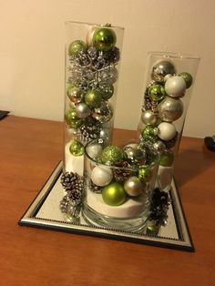 21 insanely genius ideas to decorate the kitchen in christmas spirit for free 00003 Christmas Table Centerpieces, Xmas Decorations, Christmas Tree Ornaments, Christmas Crafts, Decoration Piece, Coastal Christmas, Decorating Ideas, Glitter, Interior Design
