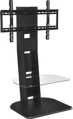 Space Saving Home TV Stand with Mount for TVs up to 50 Inches, Two Fixed Shelves and Two Storage Cubbies, Laminated MDF and Particleboard with Metal Mount and Tempered Glass Shelf + Expert Guide 50 Tv Stand, Tv Stand With Mount, Tv Stands, Solar Panel Kits, Solar Panels For Home, Montage Tv, Portable Tv Stand, Flat Screen Tv Stand, Landscape Arquitecture