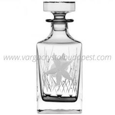 Pacifica Clear Decanter 298€ Whiskey Decanter, Luxury Candles, Budapest, Candle Holders, Perfume Bottles, Vase, Crystals, Gifts, Presents