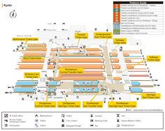 Kyoto station map