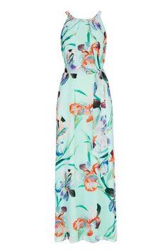 Turquoise Floral Orchid Maxi Dress #wallisescapes