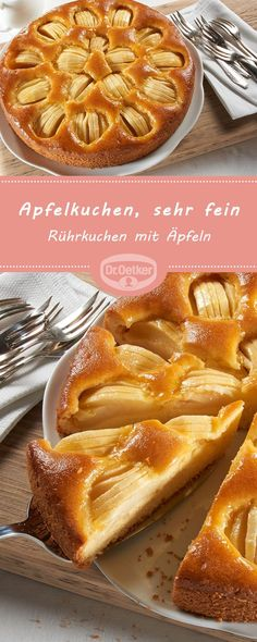 Apfelkuchen, sehr fein / #Apfelkuchen #fein #sehr Dessert Oreo, Dessert Blog, Vanilla Coffee Cake Recipe, Torte Recipe, Apple Desserts, Apple Cake, Easy Cake Recipes, Food Cakes, Tasty Dishes