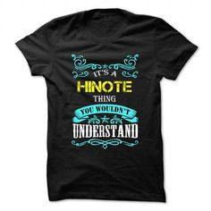 cool HINOTE tshirt, hoodie. Its a HINOTE Thing You Wouldnt understand