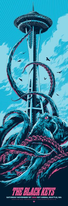 "You'll get a shot at Ken Taylor's amazing new poster for The Black Keys tomorrow. It's a 12"" x 36"" screenprint."