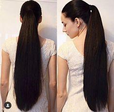 Likes, 6 Comments - Sexiest Hair Long Hair Ponytail, Straight Ponytail, Ponytail Hairstyles, Cool Hairstyles, Updos, Long Indian Hair, Rapunzel Hair, Super Long Hair, Silky Hair
