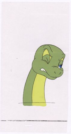 Dink the LIttle Dinosaur production animation cel and drawing Ruby-Spears