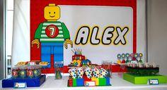 Lego 7th Birthday Party | CatchMyParty.com