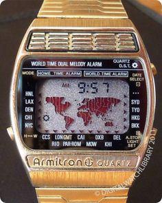 ARMITRON - World Time Melody - WorldTime - Vintage Digital Watch - Digital-Watch.com