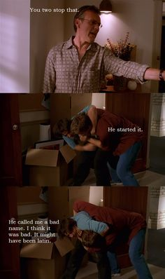 Riley and Xander Fighting - Buffy the Vampire Slayer