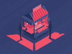I'm experimenting a bit with styles, trying to keep an isometric perspective but trying something different than usual with light and colours. 호떡 (hotteok) is one of my favourite kind of street f...