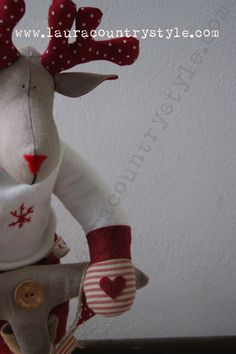 Christmas Reindeers Pattern PDF Sewing by lauracountrystyle, €13.00