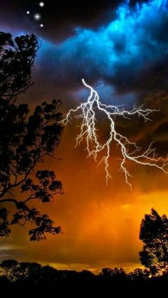Storm in the night. Tormenta en la noche
