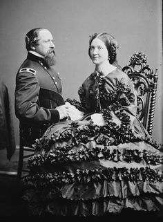 unusual pose for a couples shot then;  Civil war era
