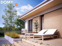 Fistaszek 2 projekt domu - Jesteśmy AUTOREM - DOMY w Stylu Outdoor Furniture, Outdoor Decor, Sun Lounger, Php, Home Decor, Design, Gardens, Chaise Longue, Decoration Home